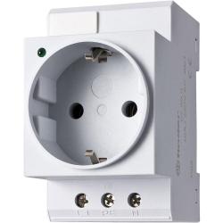 Steckdose für Schaltschrank mit LED, grau