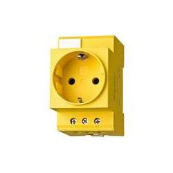 Steckdose für Schaltschrank mit LED, gelb